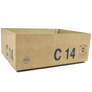 Caisse carton palettisable C simple cannelure 300 x 200 x 90mm