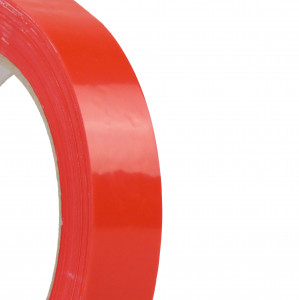 Ruban adhésif PVC solvant 37µ Rouge 19mm x 66ml