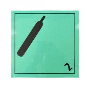 Étiquette danger Classe 2-2 Gaz non inflammable  250 x 250mm