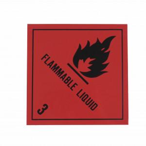 Étiquette danger Classe 3 Liquides inflammables 250 x 250mm