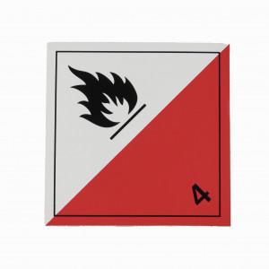 Étiquette danger Classe 4.2 inflammation spontanée 250 x 250mm