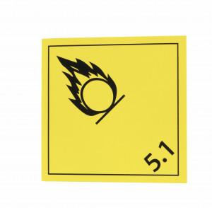 Étiquette danger Classe 5.1 Matières comburantes 250 x 250mm