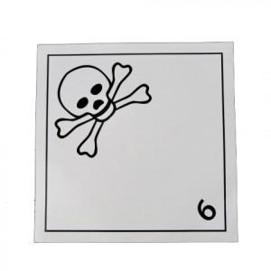 Étiquette danger Classe 6.1 Matières toxiques 250 x 250mm
