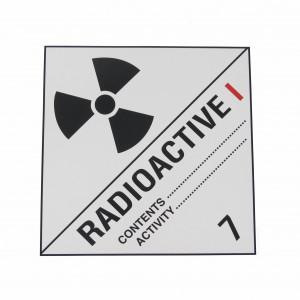 Étiquette danger Classe 7 N7A Matières radioactives 250 x 250mm