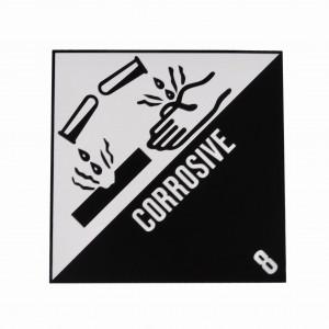 Étiquette danger Classe 8 Matières corrosives 250 x 250mm