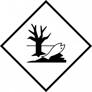 Étiquette danger polluant marin 250 x 250mm