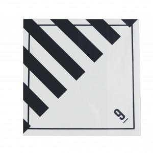 Étiquette danger Classe 9 Matières et objets dangereux 100 x 100mm