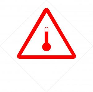 Etiquette danger «température élevée» 300 x 300mm