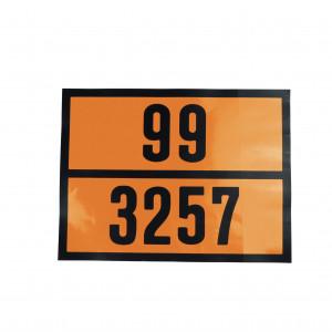 Plaque de camion  orange code danger et matière 300 x 400mm
