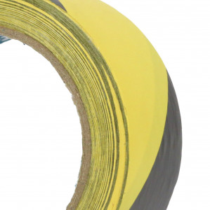 Ruban adhésif PVC solvant 160µ Jaune Noir high cube  50mm x 33ml