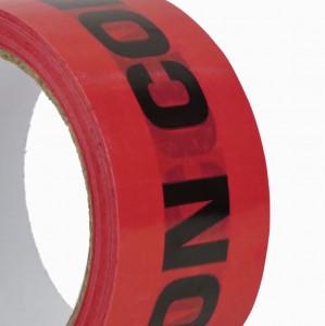 Ruban adhésif PP 28µ Rouge imprimé Noir «Non conforme» 48mm x 50ml