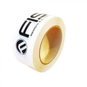 Ruban adhésif PP solvant 28µ 48mm x 100ml Blanc imprimé noir