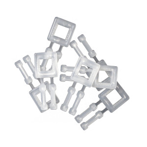 Boucle plastique pour feuillard polypropylène blanche 13mm