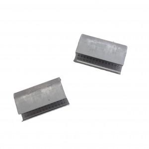 Chapes semi ouvertes crantée renforcée pour feuillard plastique 13mm
