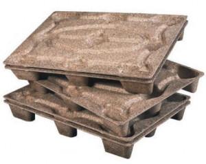 Palette bois moulée 9 plots 800 x 1200 x 135mm