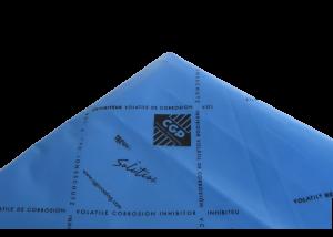Housse anticorrosion VCI PEBD 100µ Bleu 4250 x 2470 x 2160mm sans fond