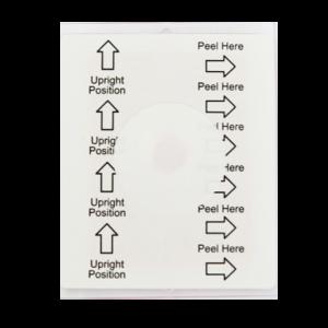 Indicateur de renversement à usage unique avec étiquette