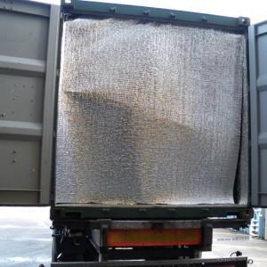 Pose de kit isolation 40'HC avec sol