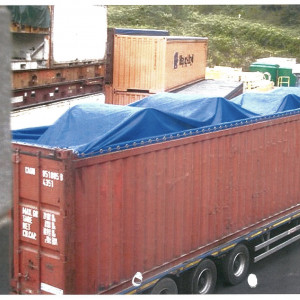 Bache PVC 90 g/m2 Bleu 8m x 12m