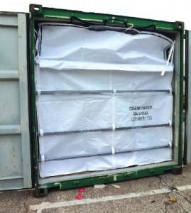Liner conteneur standard 20' avec zip dim 2400 x 2350 x 5000mm
