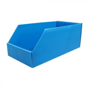 Bac à bec PP alvéolaire bleu dimensions ext. 380 x 180 x 155 mm
