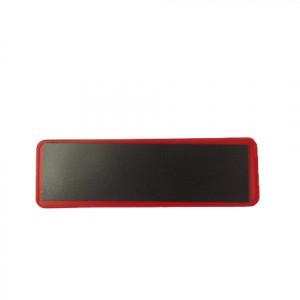 Porte étiquette magnétique rouge 97 x 30mm